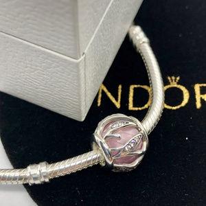 PANDORA Nature's Radiance Pink Charm, New!